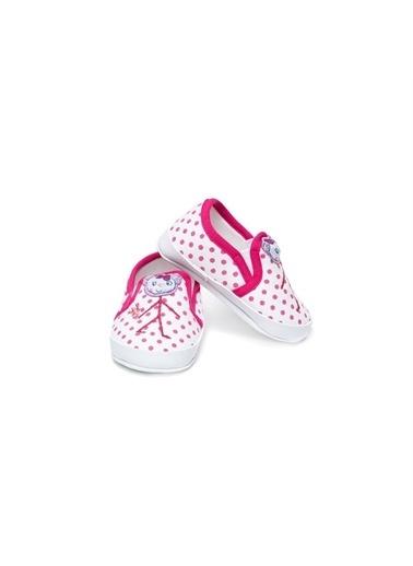 First Step Bebe Ayakkabı Siyah Çizgili Fuşya